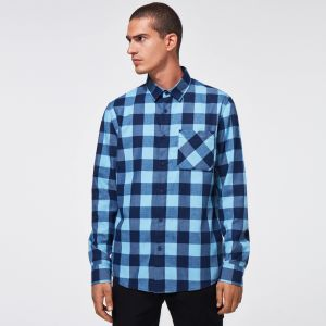 FLANNEL LS ESSENTIAL PLUS LT AVIATOR BLUE CHECK L
